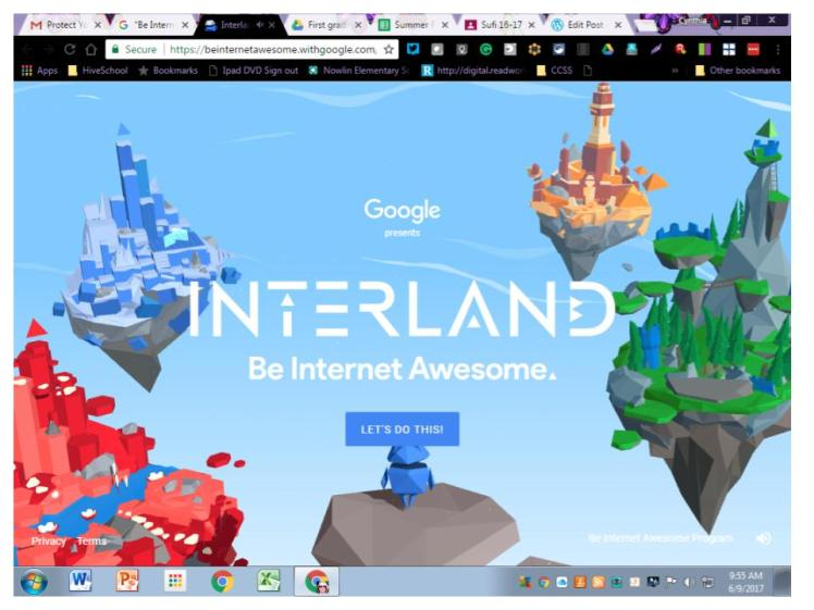 Interland splash screen